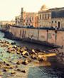 Quadro Coast of Ortigia Island at city of Syracuse, Sicily.