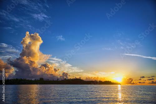 Fotobehang Zanzibar Рассвет