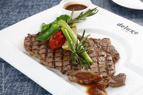 Plexiglas Steakhouse Angus sirloin steak