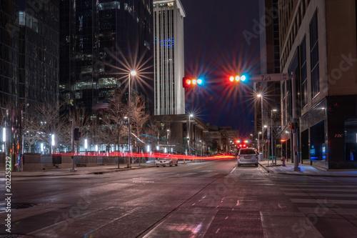 Plexiglas Nacht snelweg Bright city lights