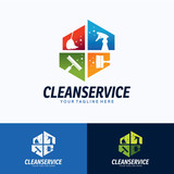 Clean Service Logo Template Design. Creative Vector Emblem, for Icon or Design Concept. - 202262653