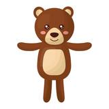 cute teddy bear childish isolated icon vector illustration design - 202263655