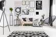 Gallery in modern living room