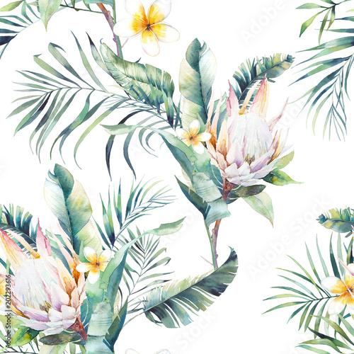 aquarell-exotischen-nahtlose-muster-textur-mit-pflanzen-tropischer-blumenstraus-wiederholen