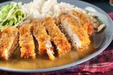 Japanese katsu curry. Deep fried breast chicken cutlet - 202303200