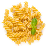 Pasta spiral isolated on the white background. - 202318818