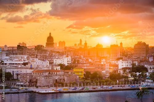 Aluminium Havana Havana, Cuba downtown skyline.