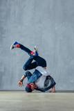 Young beautiful male dancer posing in studio - 202345854