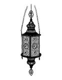 Hand drawn sketch style Turkish lantern isolated on white background. Vector illustration. - 202347812