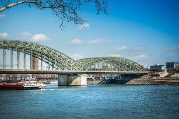 Hohenzollern Bridge, is a bridge crossing the river Rhine in the German city of Cologne