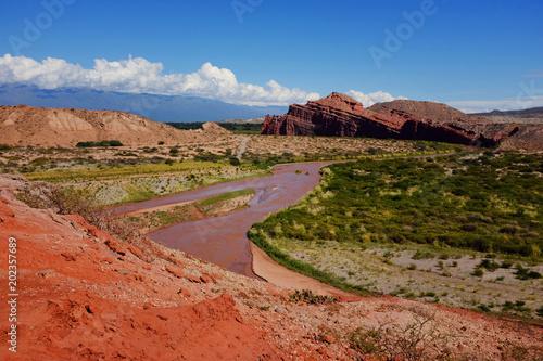 Plexiglas Baksteen red river