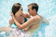 Quadro Young couple in the swimming pool