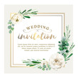Floral card template in watercolor style - 202371495