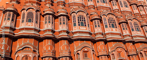 Facade of Palace of Winds in Jaipur, India