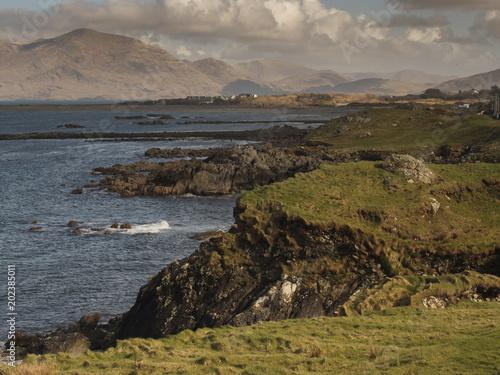 Ireland, Atlantic ocean, west coast, Connemara region. Mountains in the background.
