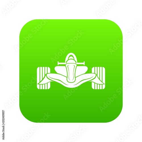 Fotobehang F1 Racing car formula icon green vector isolated on white background