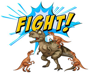 A Comic Dinosaurs Flight  on White Background