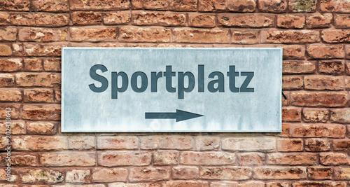 Schild 225 - Sportplatz