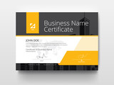 Fototapety Modern Business Certificate with Yellow and Black.