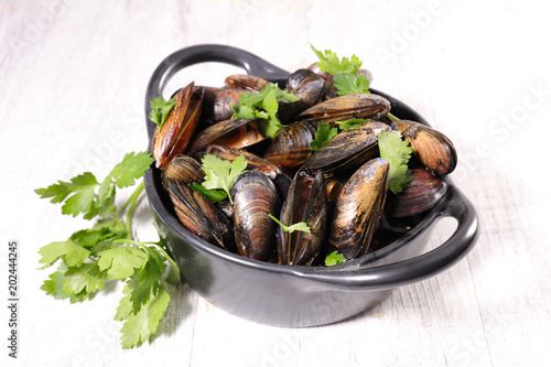 mussel and herbs