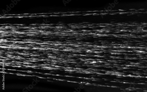 water stream on a black background