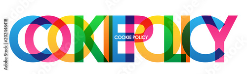 COOKIE POLICY Vector Letters Icon