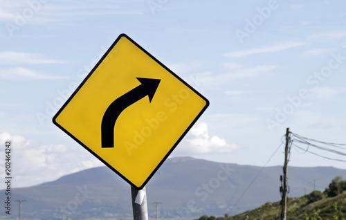 Warning Sign - Curve Ahead