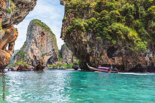 Aluminium Thailand Crystal clear sea at Railay Beach - Krabi province, Thailand