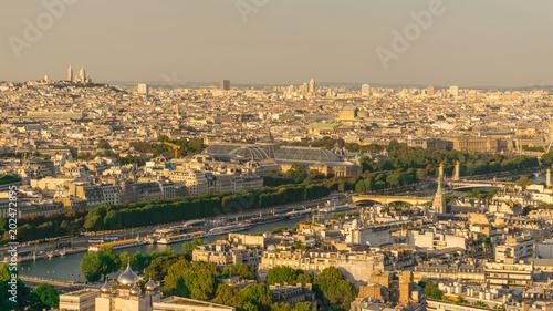 Image Of Bird Eye Shot Of Paris City, Shot At Paris