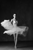 Young beautiful ballerina is posing in studio - 202476260