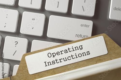 Folder Register - Operating Instructions. 3d