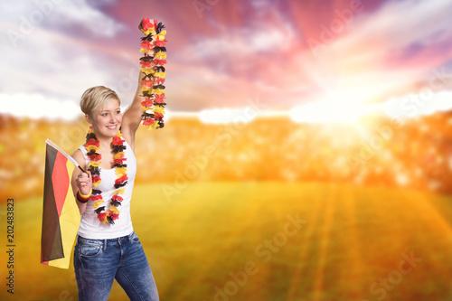 Female german fan in the stadion