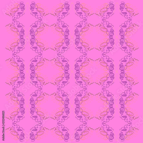 Luxury vintage design ornaments, pink ethno jpg