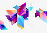 Multicolored geometric background - 202495270