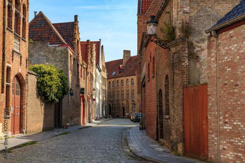 Plexiglas Brugge Street in Bruges.