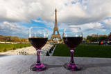 Red Wine at the Eiffel Tower in Paris, France - 202555242