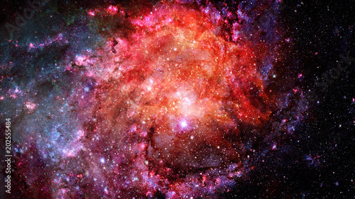 Fotobehang Heelal Abstract scientific background - galaxy and nebula in space. Elements of this image furnished by NASA.