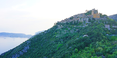 The ancient fortified mountain village of Eze in Provence, French Riviera, France