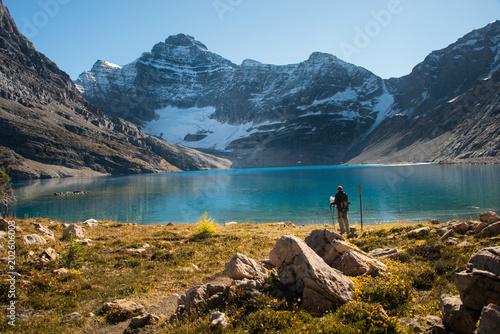 Hiking in Lake O'Hara, Yoho National Park, Canadian Rockies © Janice