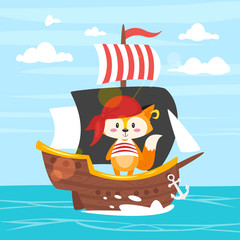 character in pirate costume