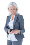 Happy businesswoman calling with smartphone - 202637675