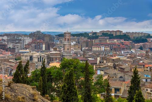 Panorama of Tudela city in Navarra, Spain