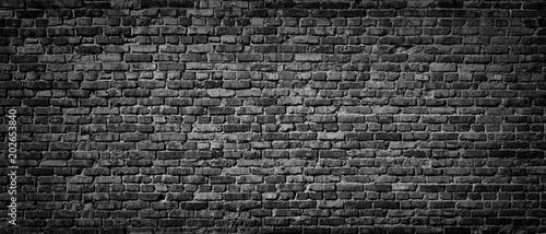 Fototapeta Old Black brick wall background