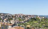 skyline of orgosolo city on sardinia island - 202680890