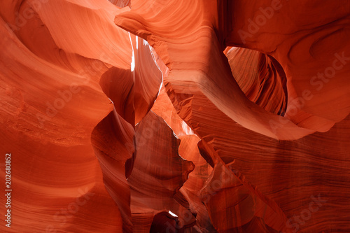 Plexiglas Rood traf. Lower Antelope Canyon