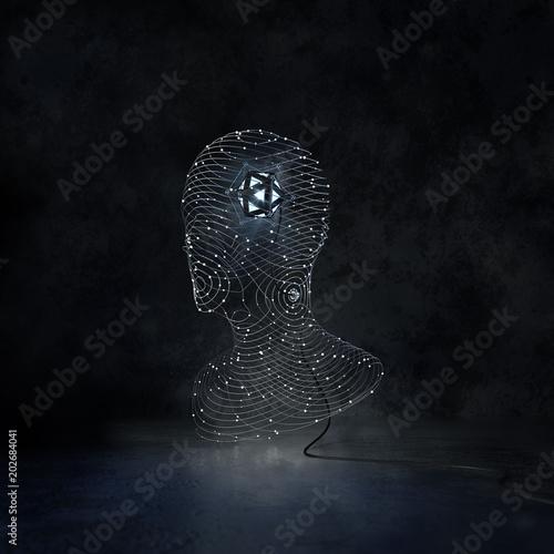 Artificial Intelligence CG Illustration