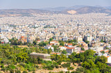 View from the Beule Gate to the Acropolis with the Temple of Hephaestus in the foreground - Athens, Greece - 202708860