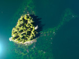 Island Paradise From Above Green Water Trees