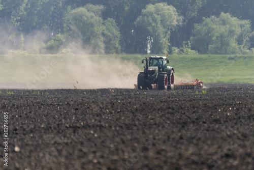 Aluminium Trekker Tractor performs spring work in the field