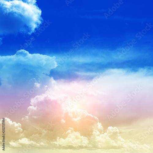 Plexiglas Donkerblauw Sky colors air clouds